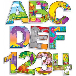Bulletin board Illustrated Alphabet and Numbers