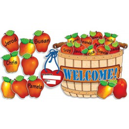 Bulletin Board Giant Apple Basket