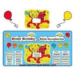 Bulletin Board Happy Birthday Clifford Bilingual